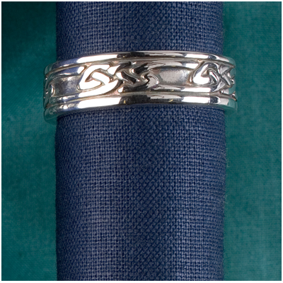 Celtic & Patterned Band Rings