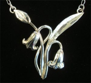 Scottish Bluebells Necklace - Joanna Thomson Jewellery Designer, Peebles, Scotland