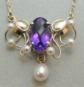 Harlequin Amethyst Pendant - Joanna Thomson Jewellery, Peebles, Scotland