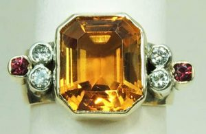 Citrine Ring - Joanna Thomson Jewellery, Peebles, Scotland