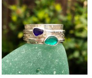 Sea Glass Ring - Joanna Thomson Jewellery, Peebles, Scotland