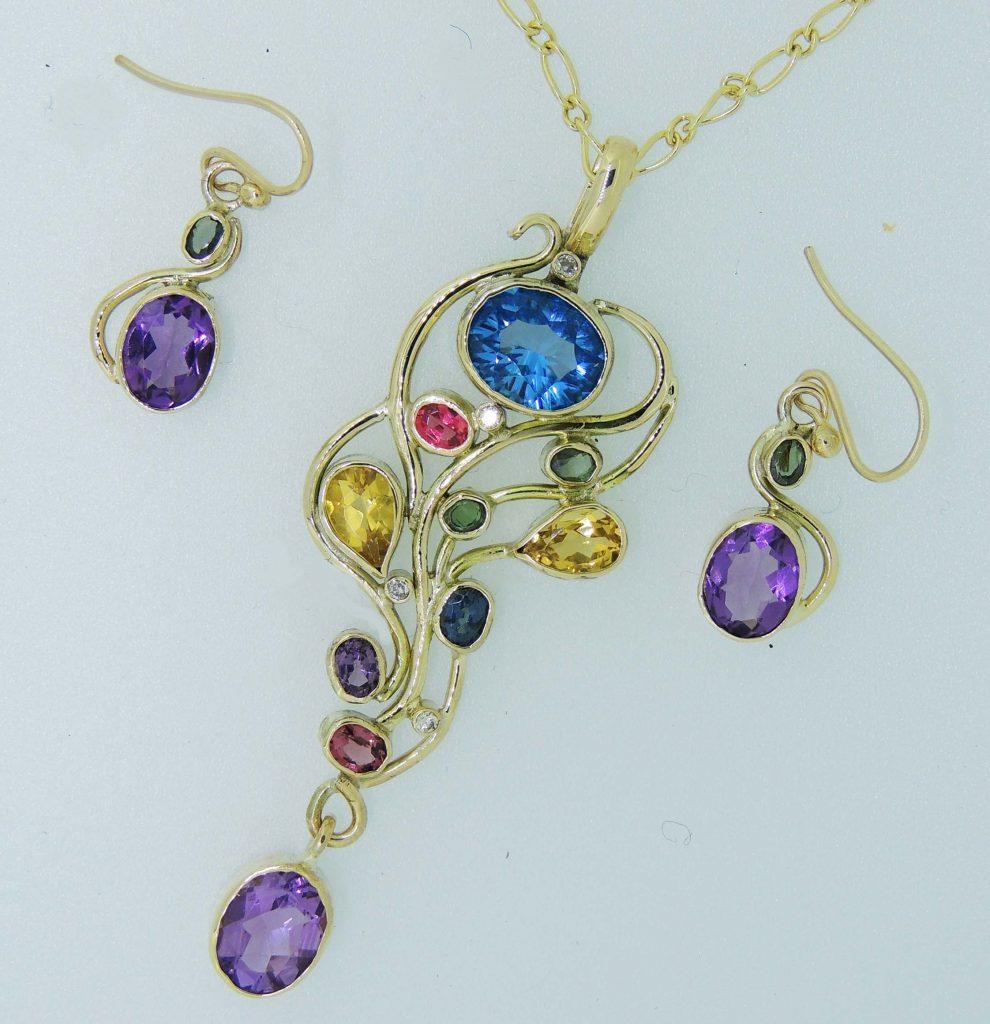 Bespoke Earrings Pendant - Joanna Thomson Jewellery, Peebles, Scotland