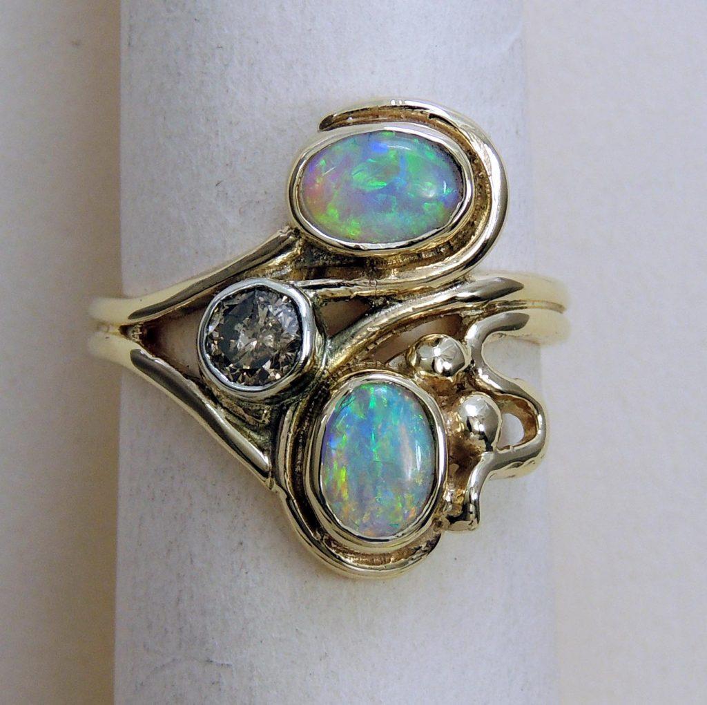 Opal Ring - Joanna Thomson Jewellery, Peebles, Scotland
