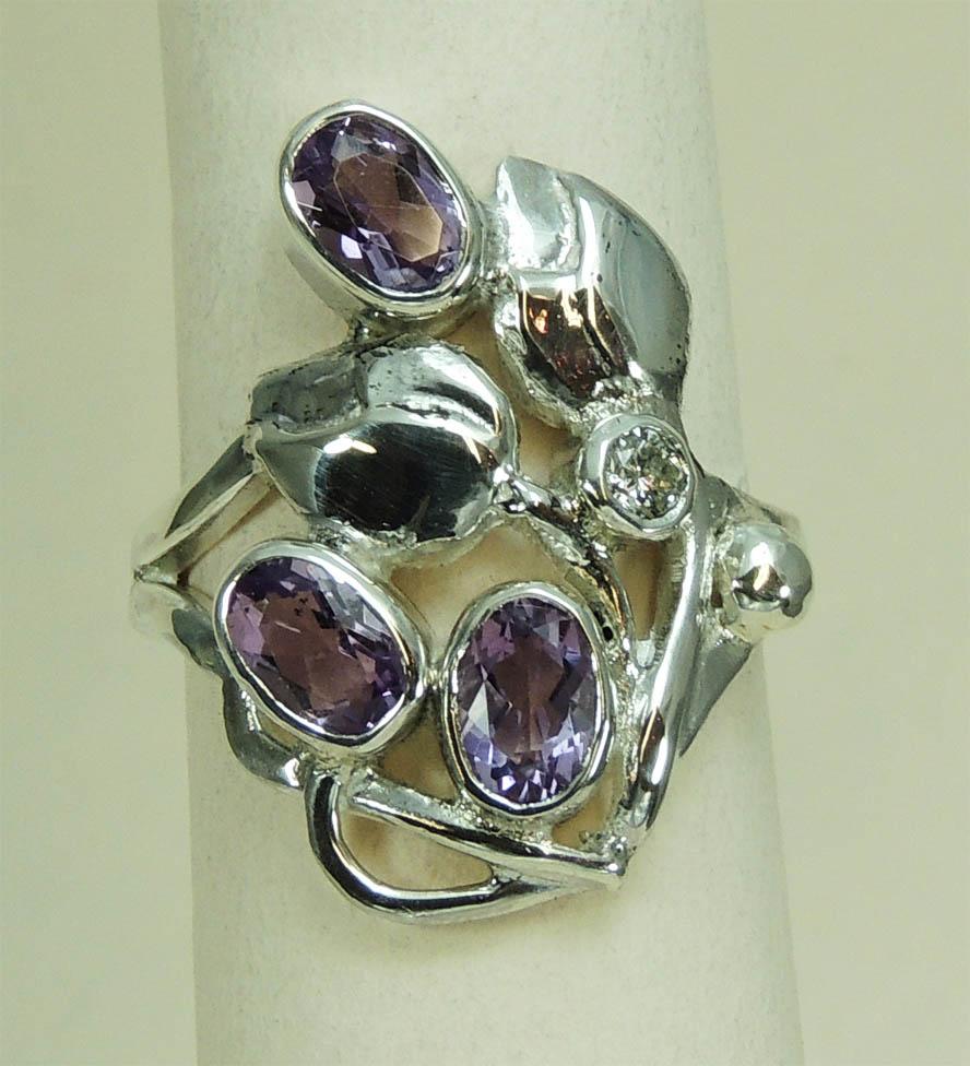 Teale Amethyst Ring - Joanna Thomson Jewellery, Peebles, Scotland