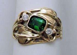 Tsavourite Garnet Ring - Joanna Thomson Jewellery, Peebles, Scotland