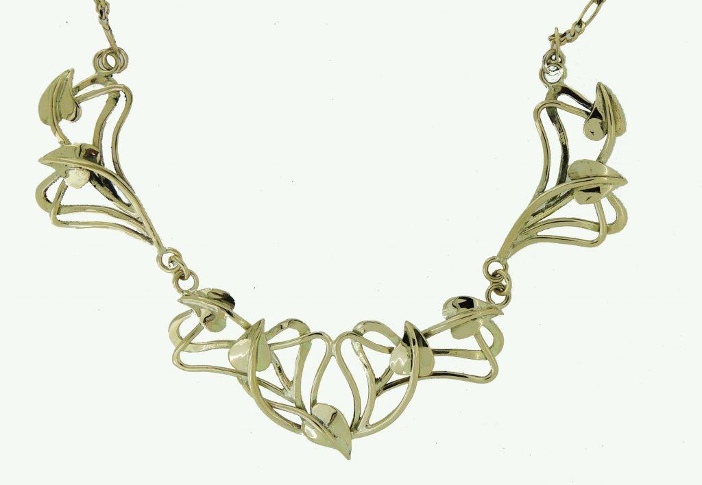 Gold Necklace Commission - Joanna Thomson Jewellery, Peebles, Scotland